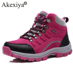 Akexiya Women Winter Hiking Shoes Boots Camping Climbing Shoes Female Sneakers Breathable Mountain Walking Boots Warm Plush