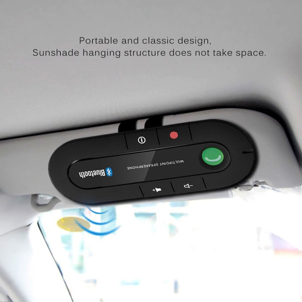 Multipoint Speakerphone 4.1+EDR Wireless Bluetooth Handsfree Car Kit MP3 Music Player for IPhone Android Dropship Hot