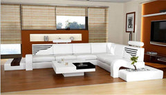 modern style  living room Genuine leather sofa a1295