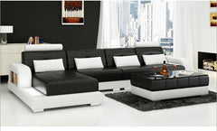 modern style  living room Genuine leather sofa a1302