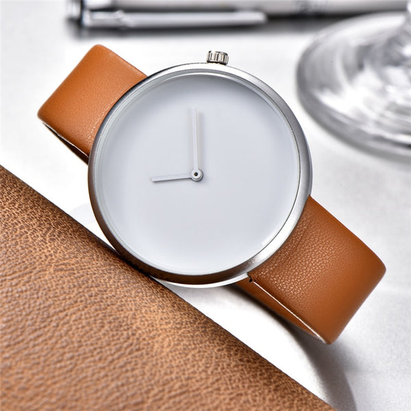 Minimalist Style Creative Wristwatches Black  White New Design Simple Stylish Quartz Fashion Unisex Watches Gift reloj mujer