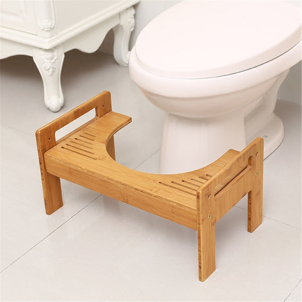 Wooden Thicken Round Toilet Foot Stool Home Crouch Hole Bench Tool Elderly Constipation Assistant Bathroom Potty Step Foot Stool