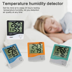 HTC-1 Indoor LCD Electronic Digital Temperature Humidity Meter Digital Thermometer Hygrometer Alarm Clock Weather Station