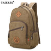 2019 New Vintage Fashion Man's Canvas Backpack Travel Schoolbag Male Backpack Men Large Capacity Rucksack Shoulder School Bag