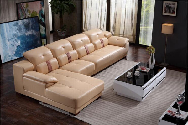 modern style  living room Genuine leather sofa a1297