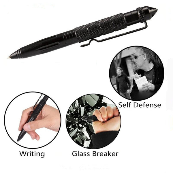 Tactical Pen Self Defense Weapons Glass Breaker Aluminum Alloy EDC Tool Survival Kit Outdoor Multifunctional Tool