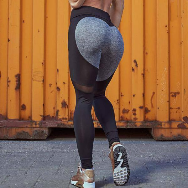 High Waist Sexy Heart Pattern Mesh Leggings Athleisure Fitness Elastic Jegging Clothing Leggings Women Pants 2018 Autumn Summer