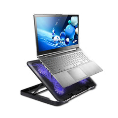 5 Fans LED USB Cooling Adjustable Pad For Laptop Notebook 7-17inch Stand Pad for Laptop PC Usb Cooler For Notebook +USB Cord