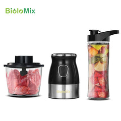 Multi Function 500W Portable Personal Blender Food Processor Mixer Juicer Meat Mincer Grinder with Chopper BPA FREE 600ml Bottle