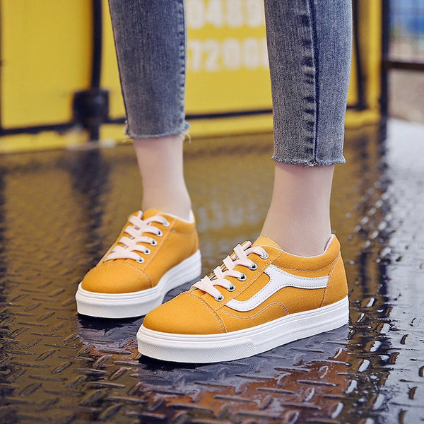Women's Vulcanized Shoes Classic Canvas Shoes Ladies Casual Low To Help with Fashion Sports Shoes Retro Best-selling Shoes 35-39