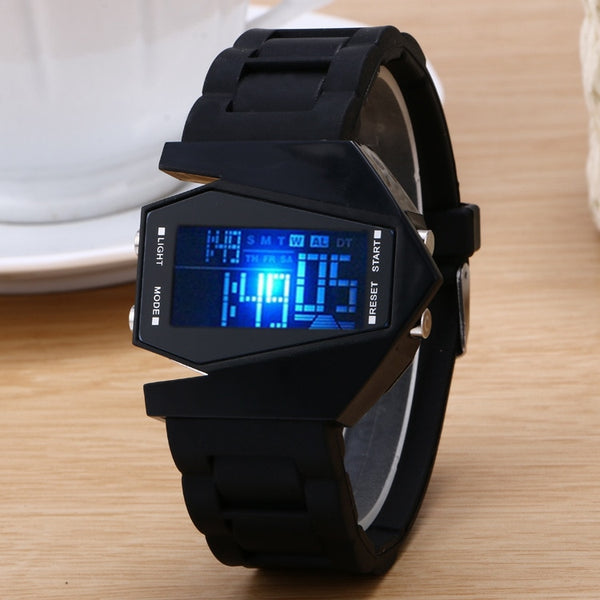 Luxury Digital Alarm Back Light LED Watch Women Men Children Sports Wrist Watch Clock relogio feminino masculino 8A15