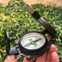 Askco Portable Army Green Folding Lens Compass Metal Military Marching Lensatic Camping Compass New Hot selling