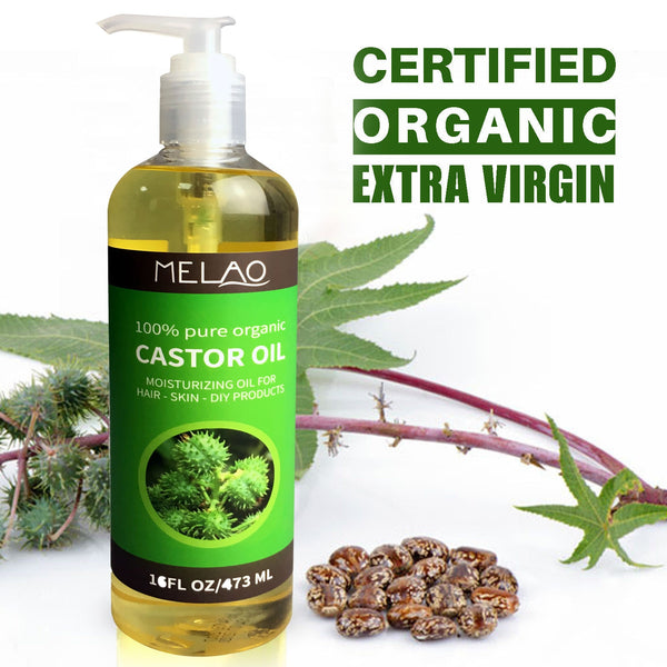New 100% Pure Essential Oil Natural Castor Oil 473ml Cold Pressed Moisturiser Hydrating Skin Care Hair Care Beauty Drop Shipping