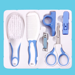 6pcs/Set Baby Health Care Set Newborn Infants Daily Nail Clipper Scissors Come Kits Kids Safety Care Set Grooming Hair Brush Kit