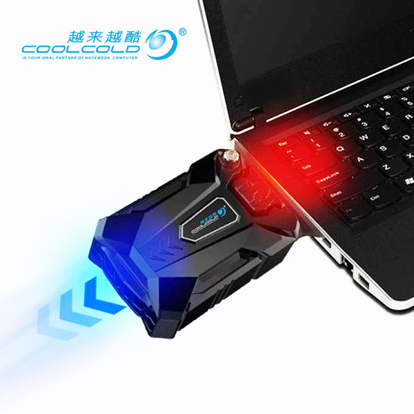 High Performance suction type external laptop cooler usb fan turbine technology suporte para notebook Ventilation cooling pad