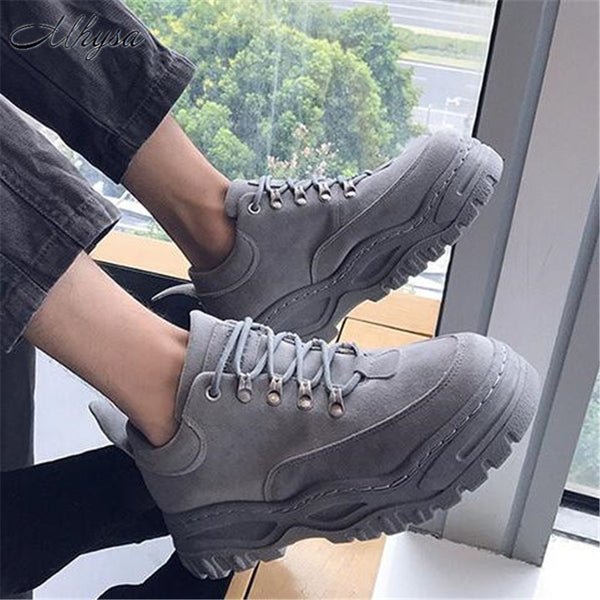 Mhysa 2019New spring and autumn retro trend low shoes students wild Korean version of comfortable wear non-slip men's shoes M015