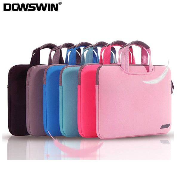 DOWSWIN Laptop Bag Case for Macbook Air Pro Retina 13 15 Laptop Sleeve 15.6 Notebook Bag For Dell Acer Asus HP Business Handbag