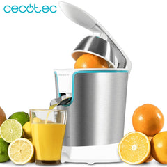 Cecotec Electric Orange Juicer Zitrus Adjust 160 White for Citrics 160 W Power includes Pulp Filter and 2 Detachable Cones