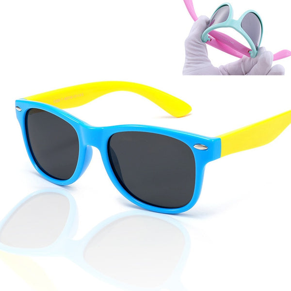 XojoX Kids Sunglasses Polarized Fashion Baby Sun Glasses Ultra-soft Silicone Safety Boys Girls Goggles Children Eyeglasses UV400