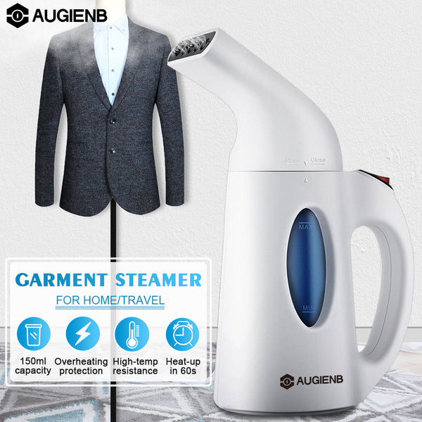 AUGIENB Automatic Handheld Garment Steamers Portable iron Steam for Travel Home Clothes Household Appliance Power OFF