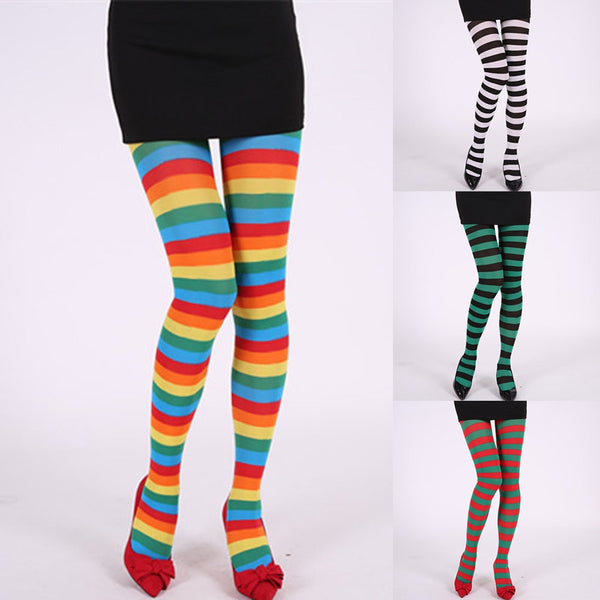 Long Socks Sexy High Quality Socks Women Long Striped Women Stripe Print Long Tube Knee Socks W409