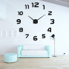 2019 New fashion 3D big size wall clock mirror sticker DIY wall clocks home decoration wall clock meetting room