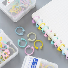 Creative color multi-function plastic Easy ring for Albums information card loose-leaf book binding Office Binding Supplies