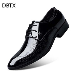Men's Dress Shoe Snakeskin Grain Leather Men Wedding Oxford Shoes Lace-Up Office Suit Men's Casual Shoes Luxury Italian 320