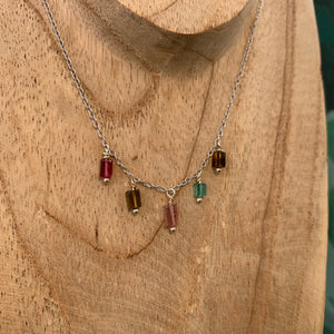 Collier Indie Tourmaline Rectangle - Jolly Jungle