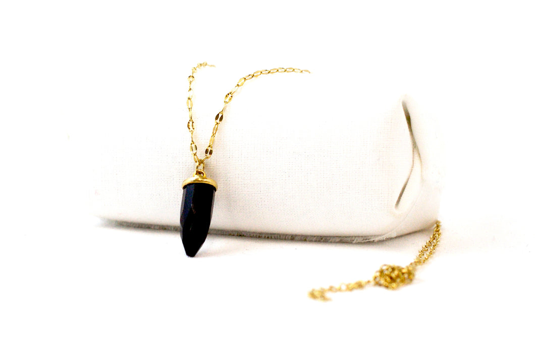 Collier Sia Spinelle Noire