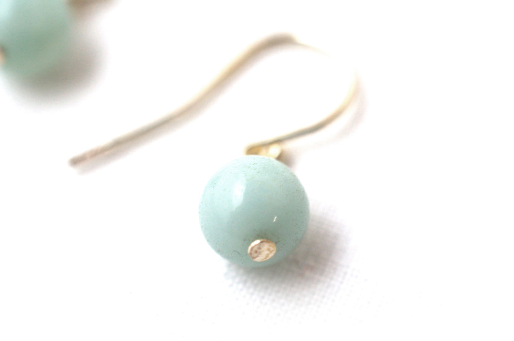 Boucles Luna Amazonite Ronde