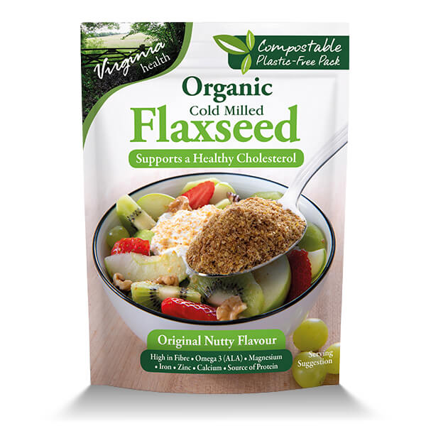 8 x 200g Organic Cold Milled Flaxseed, Original Nutty Taste