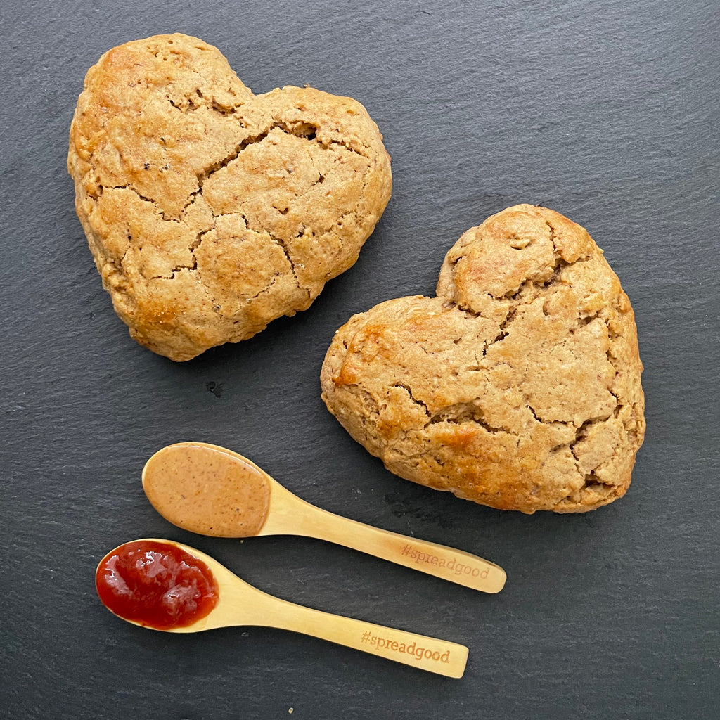 Jam-Filled Nut Butter Scones