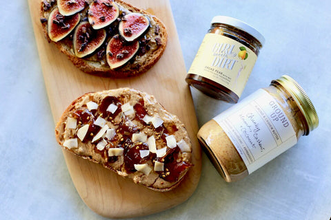 Almond Butter and Jam on Toast