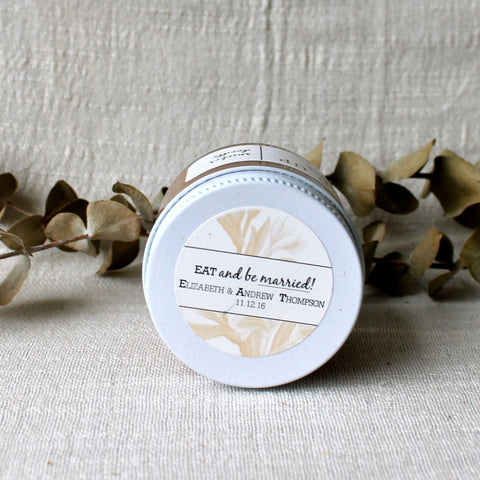 Ground Up Nut Butter Handmade Wedding Favors