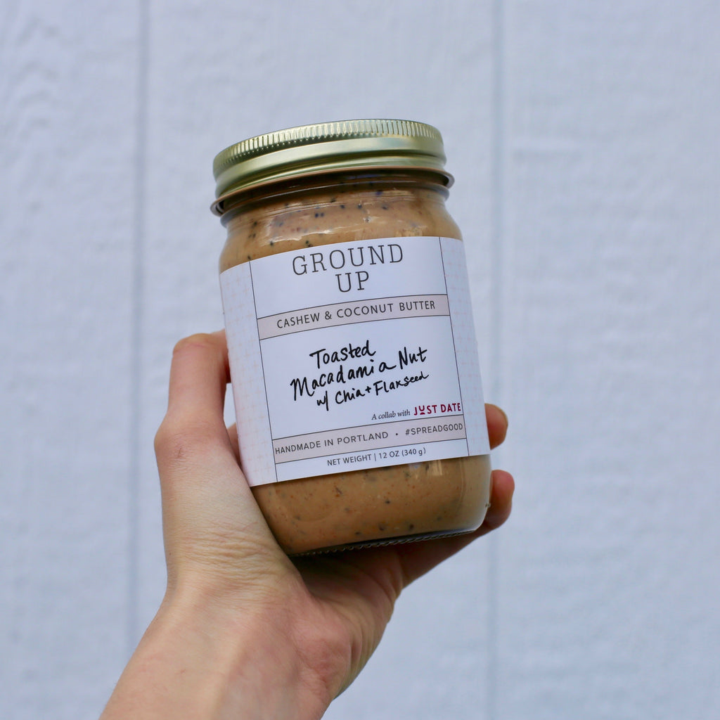Toasted Macadamia Nut Butter made with Just Date Syrup