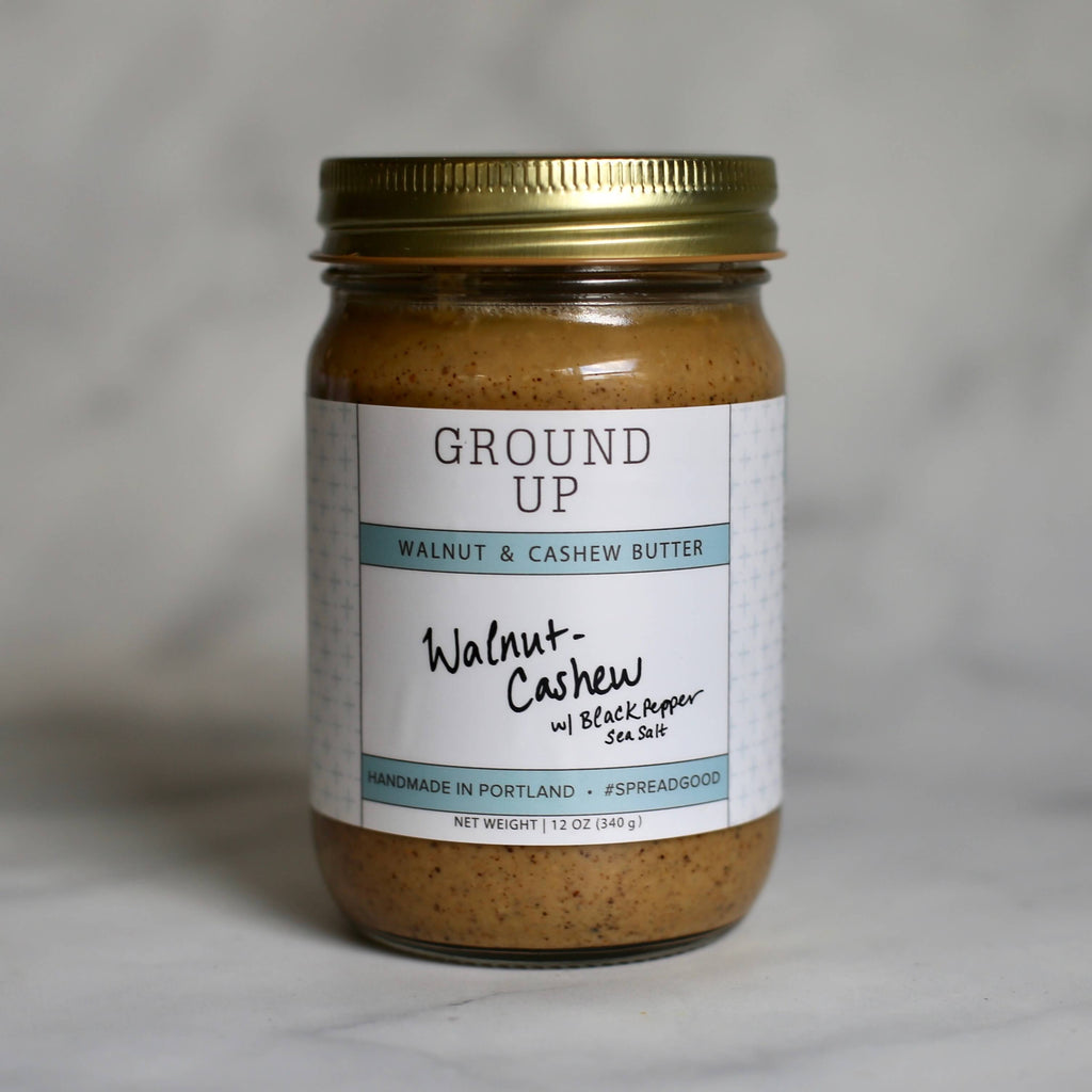 Ground Up Unsweetened Walnut Cashew Butter Keto-Friendly