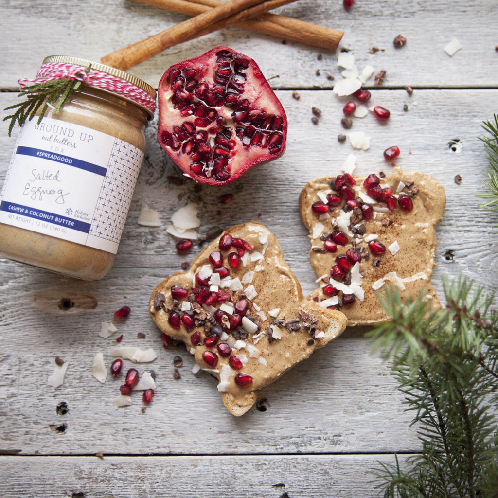 Salted Eggnog Holiday Spiced Cashew and Coconut Butter
