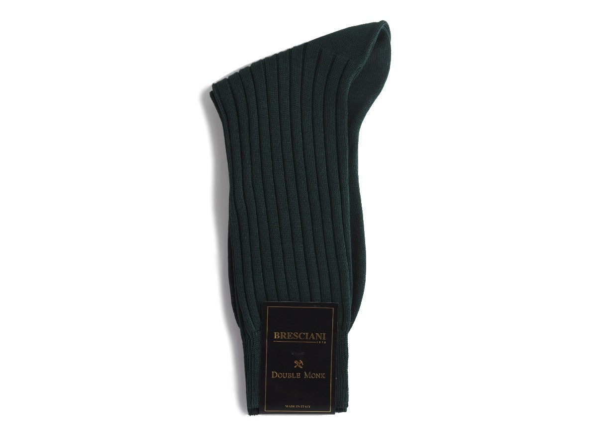 Calf Length Cotton Socks 3-ply Dark Green