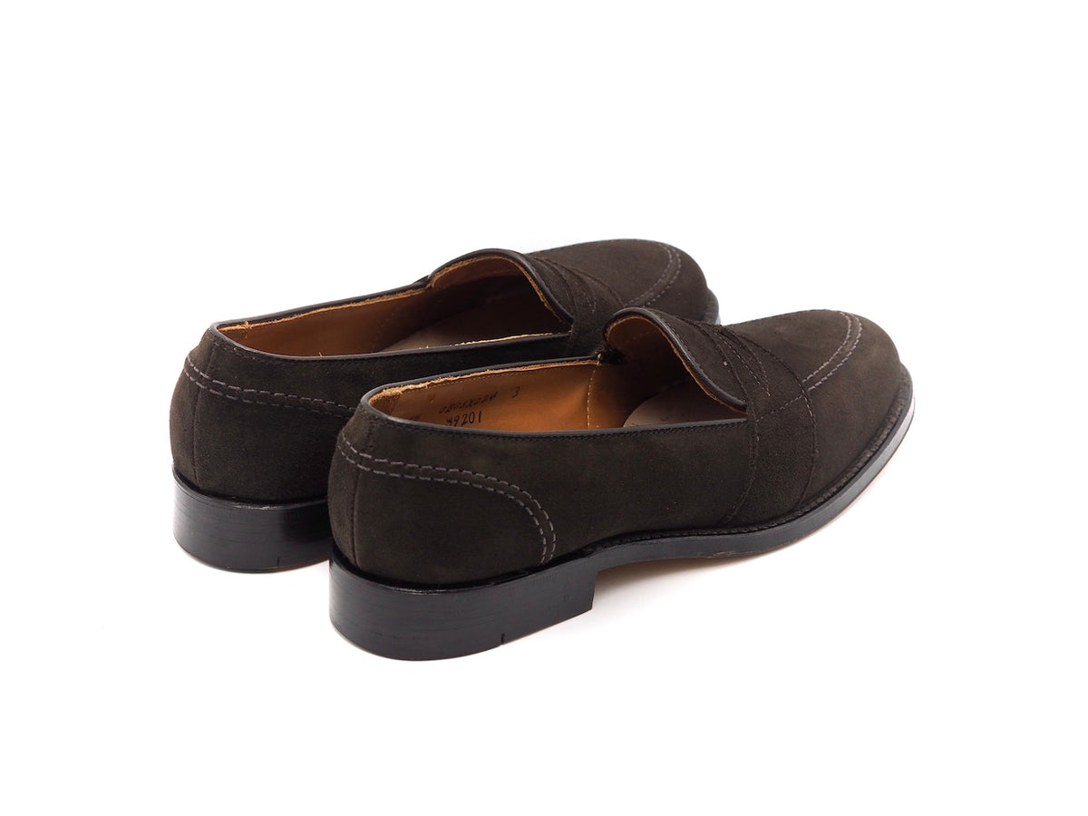 Full Strap Slip-On Dark Brown Suede