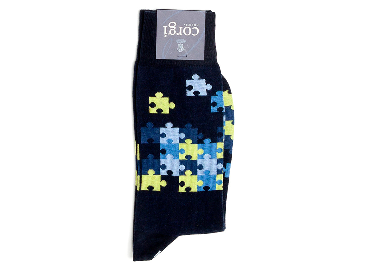 Jigsaw Socks Black