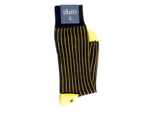 James Ribbed Socks Black