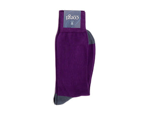 Charles Plain Socks Purple