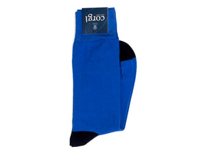 Charles Plain Socks Blue