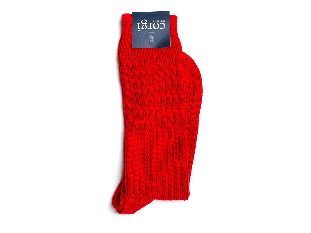 Ribbed Socks Red