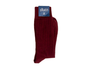 Phillip Ribbed Socks Burgundy