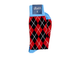 Argyle Socks Red