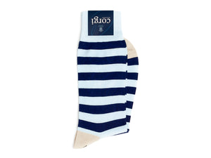 Striped Socks Light Blue