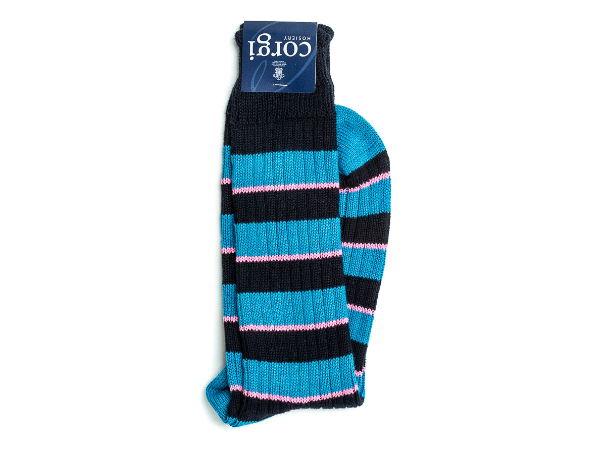 Striped Cotton Socks Blue