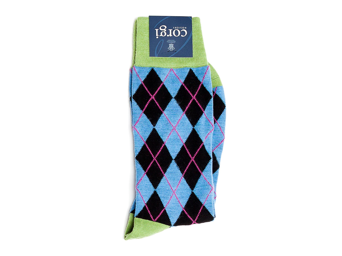 Argyle Socks Light Blue